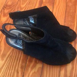 Vintage by Jeffery Campbell peep toe booties